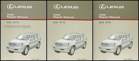 2008 Lexus GX 470 Repair Manual Original 3 Volume Set