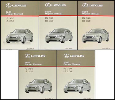 2008 Lexus IS 350/IS 250 Repair Manual Set Original