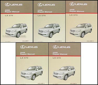 2008 Lexus LX 570 Repair Manual 5 Volume Set Original