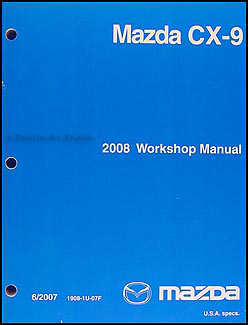 2008 Mazda CX-9 Repair Manual Original
