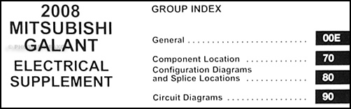2008 Mitsubishi Galant Wiring Diagram Manual Original