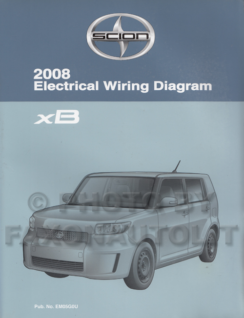 2008 scion xb wiring diagram manual original 2008scionxbewd jpg
