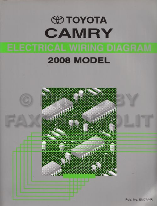 2008 Toyota Camry Wiring Diagram Manual Original | 2008 Camry Wiring Diagram |  | Faxon Auto Literature