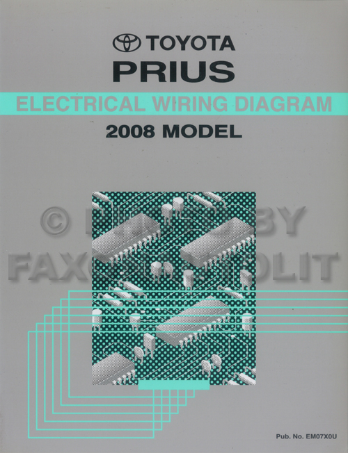 2008 Toyota Prius Wiring Diagram Manual Original