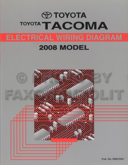 2008 Toyota Tacoma Pickup Wiring Diagram Manual Original