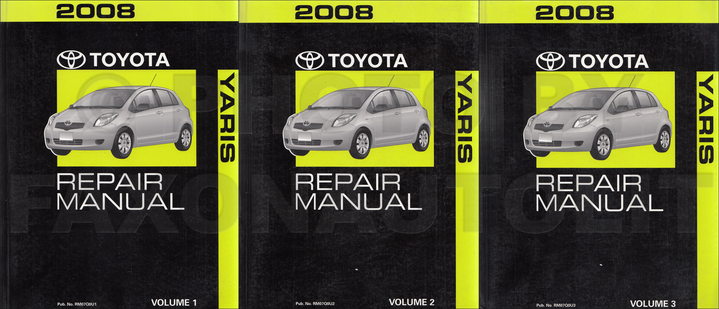 2008 Toyota Yaris Service Repair Shop Manual Set Oem 2 Volume Set And The Electrical Wiring Diagrams Manual