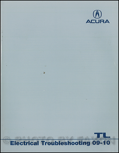 2009-2010 Acura TL Electrical Troubleshooting Manual Original