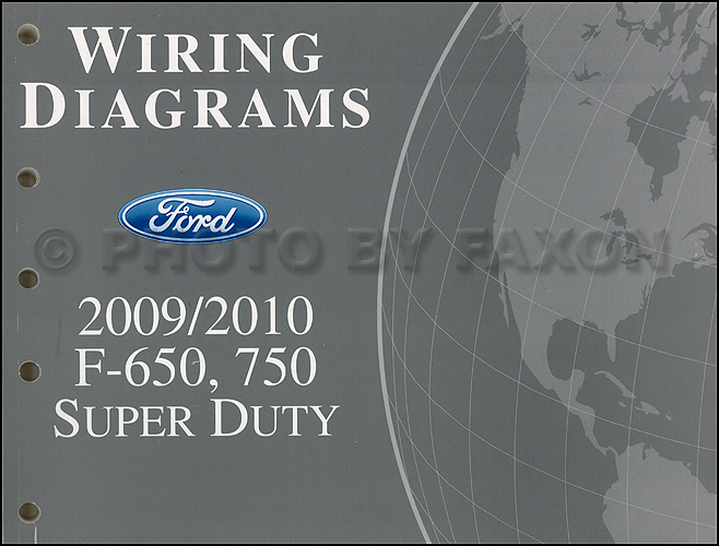 2009-2010 Ford F650-F750 Medium Truck Wiring Diagram Manual Original