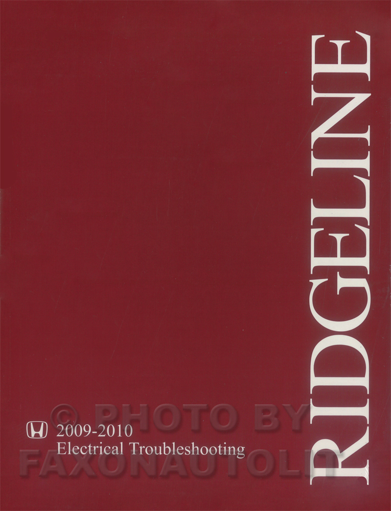 2009-2010 Honda Ridgeline Electrical Troubleshooting Manual Original