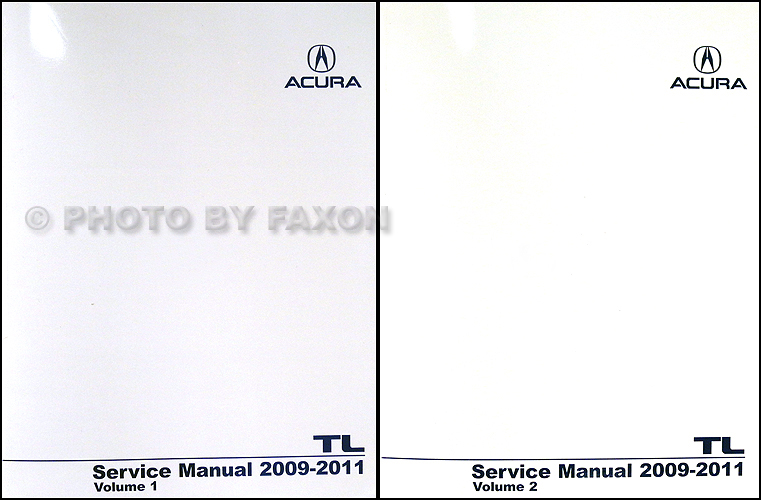 2009 2010 Acura TL Shop Manual NEW Original Repair Service Book Set of 2 Volumes