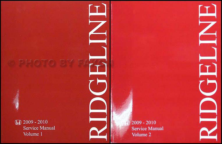 2009-2010 Honda Ridgeline Repair Manual Original  Set