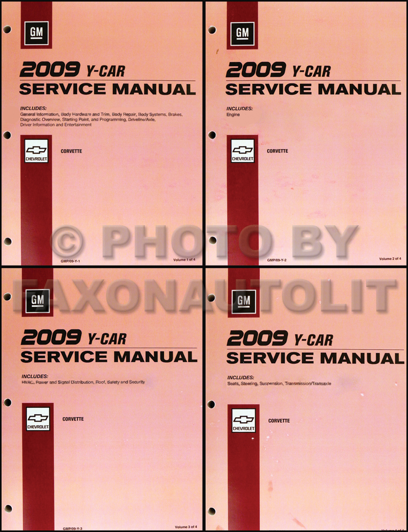 2009 Chevrolet Corvette Repair Shop Manual Original 4 Volume Set