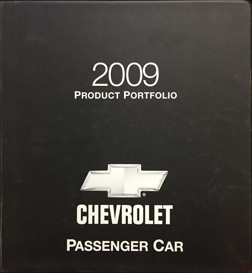 2009 Chevrolet Car Color & Upholstery Dealer Album/Data Book Original