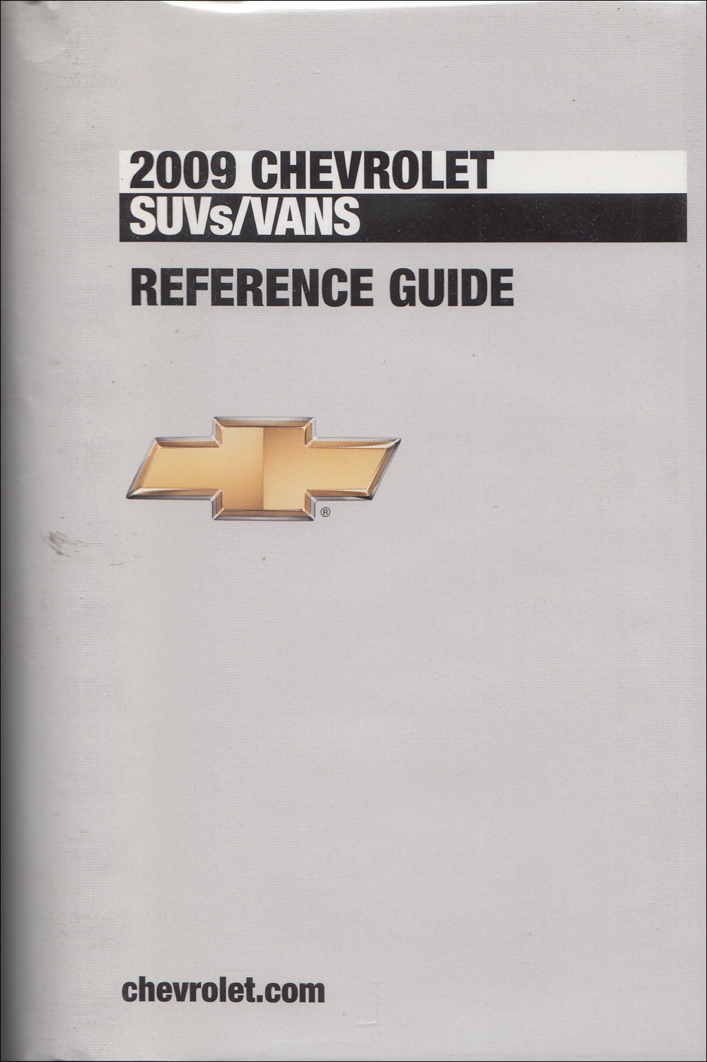 2009 Chevrolet SUV & Vans Data Book with Color & Upholstery Original