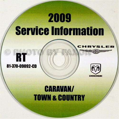 2009 Dodge Grand Caravan and Chrysler Town & Country Repair Shop Manual CD-ROM