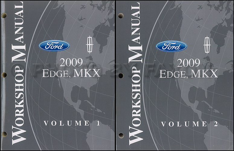2009 Ford Edge Lincoln MKX Repair Shop Manual Original 2 Volume Set