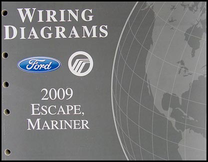 2009 Ford Escape & Mercury Mariner Wiring Diagram Manual Original Gasoline Models