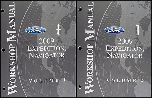 2009 Ford Expedition & Lincoln Navigator Repair Manual 2 Volume Set