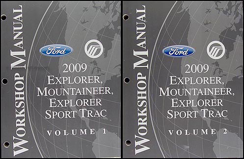 2009 Ford Explorer/Sport Trac Mercury Mountaineer Repair Shop Manual Set