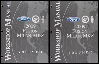 2009 Fusion Milan MKZ Repair Manual 2 Volume Set Original