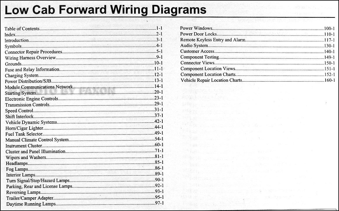 2009 Ford Low Cab Forward Truck Wiring Diagram Manual Original