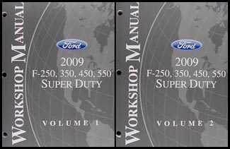 2009 Ford F-Super Duty F250 F350 F450 F550 Repair Shop Manual Set Original