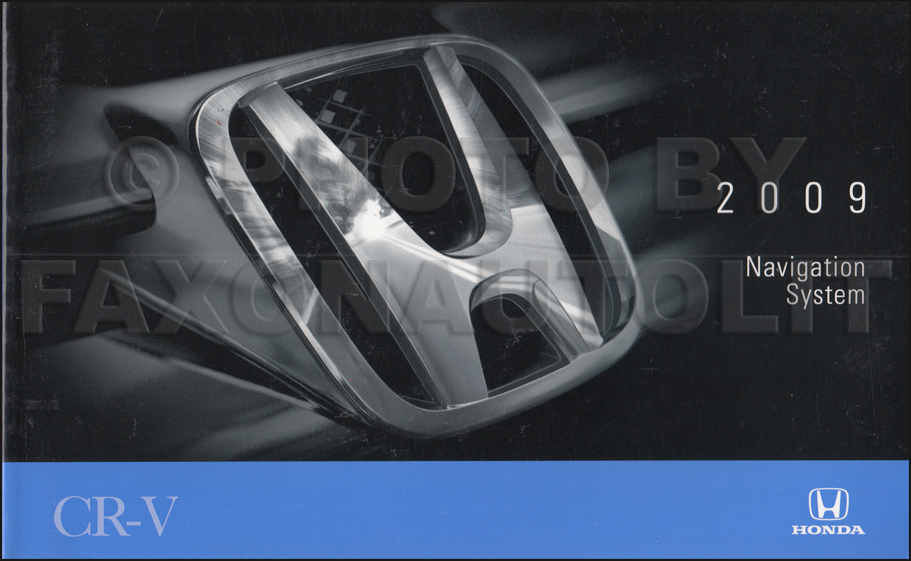 2009 Honda CR-V Navigation System Owners Manual Original