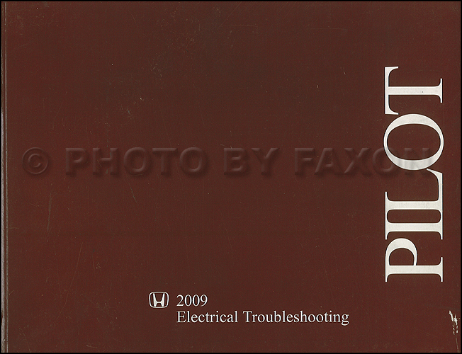 2009-2010 Honda Pilot Electrical Troubleshooting Manual Original