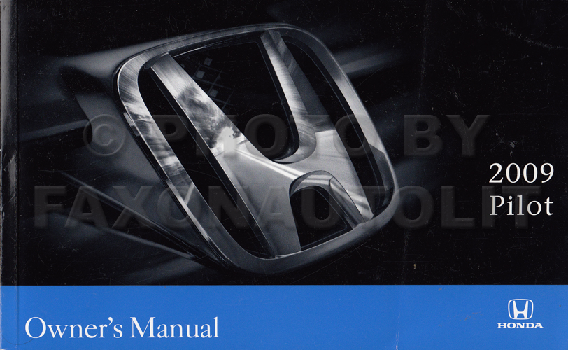 2009 Honda Pilot Owner's Manual Original