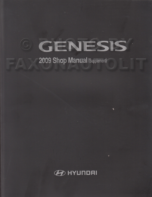 2009 Hyundai Genesis 4.6 Engine Repair Manual Original Supplement