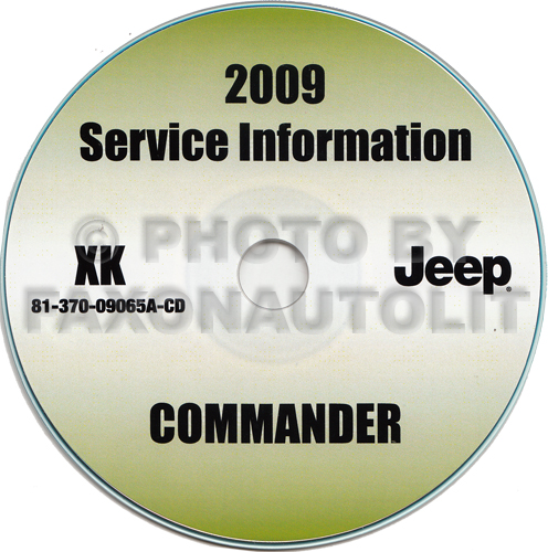 2009 Jeep Commander Repair Shop Manual CD-ROM