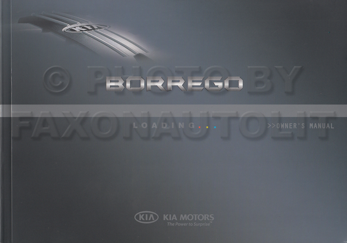 2009 Kia Borrego Owners Manual Original