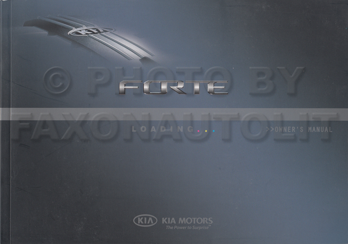 2010 Kia Forte Owners Manual Original