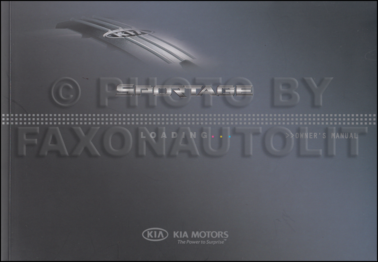 2009 Kia Sportage Owners Manual Original Canadian