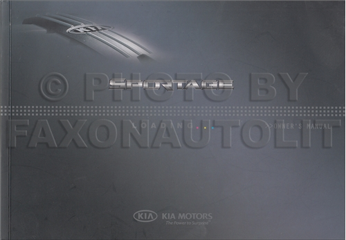 2009 Kia Sportage Owners Manual Original