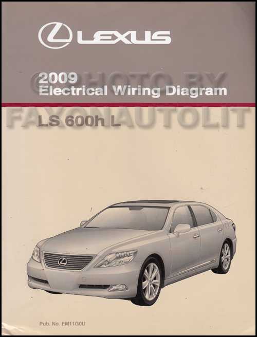 2009 Lexus LS 600h L Wiring Diagram Manual Original