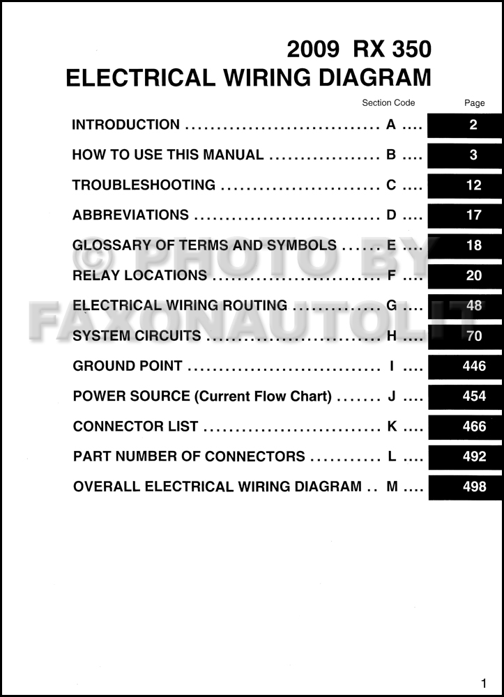 2009 lexus rx 350 wiring diagram manual original rh faxonautoliterature com 2010 lexus rx 350 wiring diagram 2013 lexus rx 350 wiring diagram