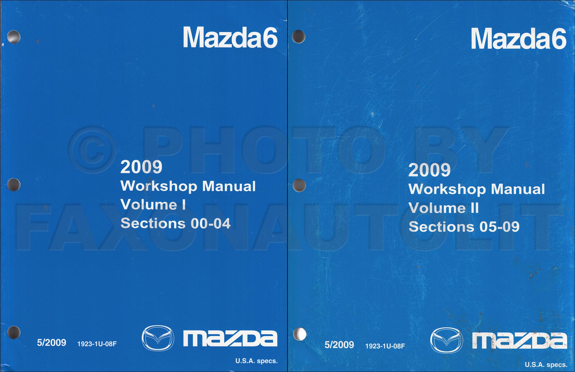 2008 Mazda6 Repair Manual Original Mazda 6