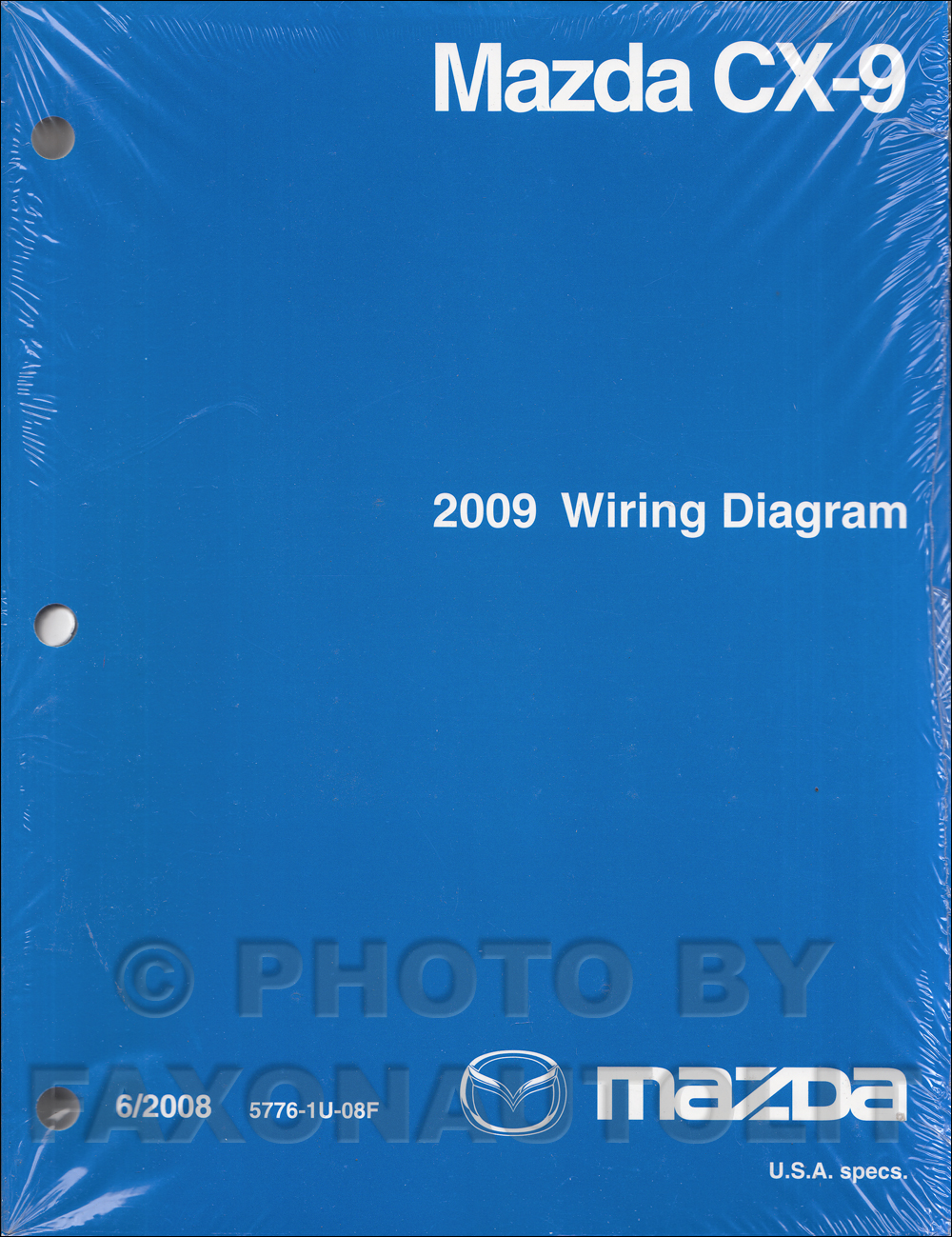 2009 Mazda CX-9 Wiring Diagram Manual Original
