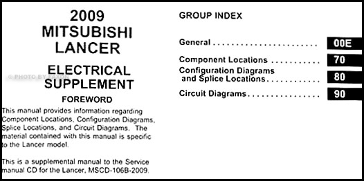 2009 Mitsubishi Lancer Wiring Diagram Manual Original · Table Of Contents: Wiring Diagram Mitsubishi Lancer 1996 At Jornalmilenio.com
