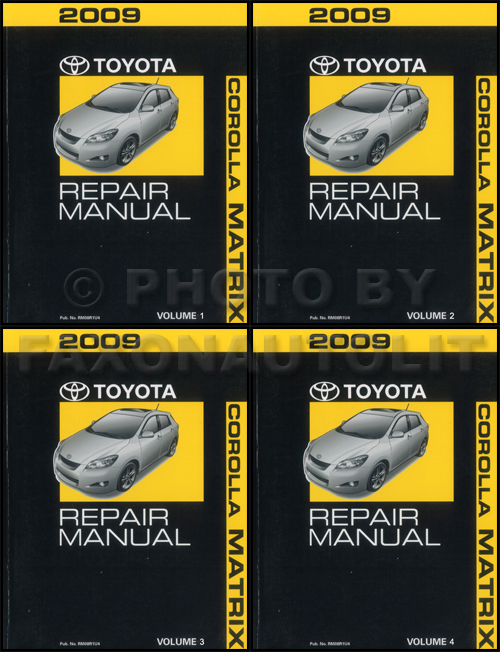 2003 toyota corolla repair manual 2-volume set