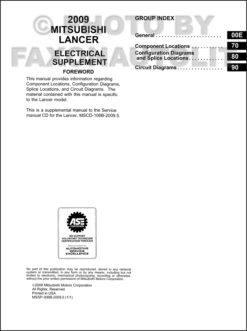 20095 Mitsubishi Lancer Wiring Diagram Manual Original Splice Click On Thumbnail To Zoom