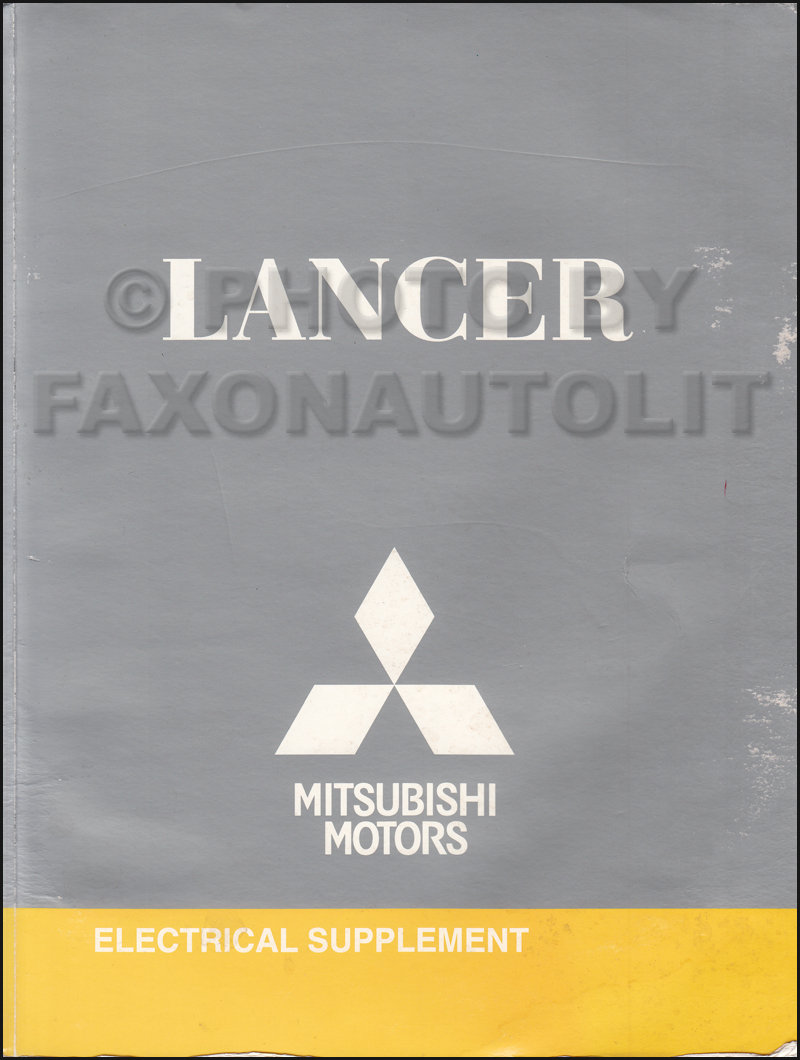 2009.5 Mitsubishi Lancer Wiring Diagram Manual Original