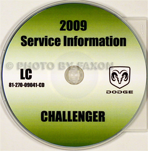 2009 Dodge Challenger Repair Shop Manual CD-ROM