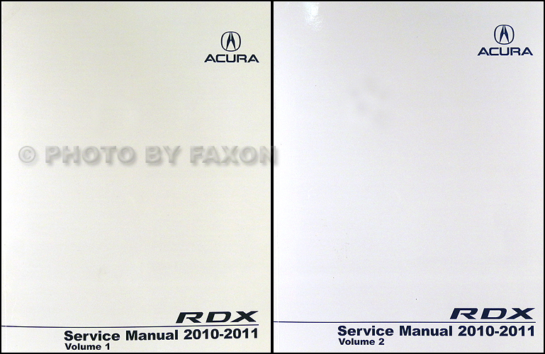 2010-2011 Acura RDX Service Manual 2 Volume Set on