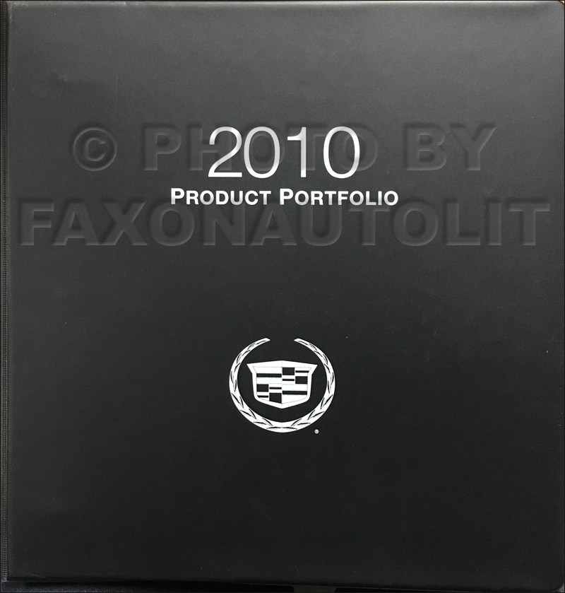 2010 Cadillac Product Portfolio - Data Book and Color & Upholstery Album