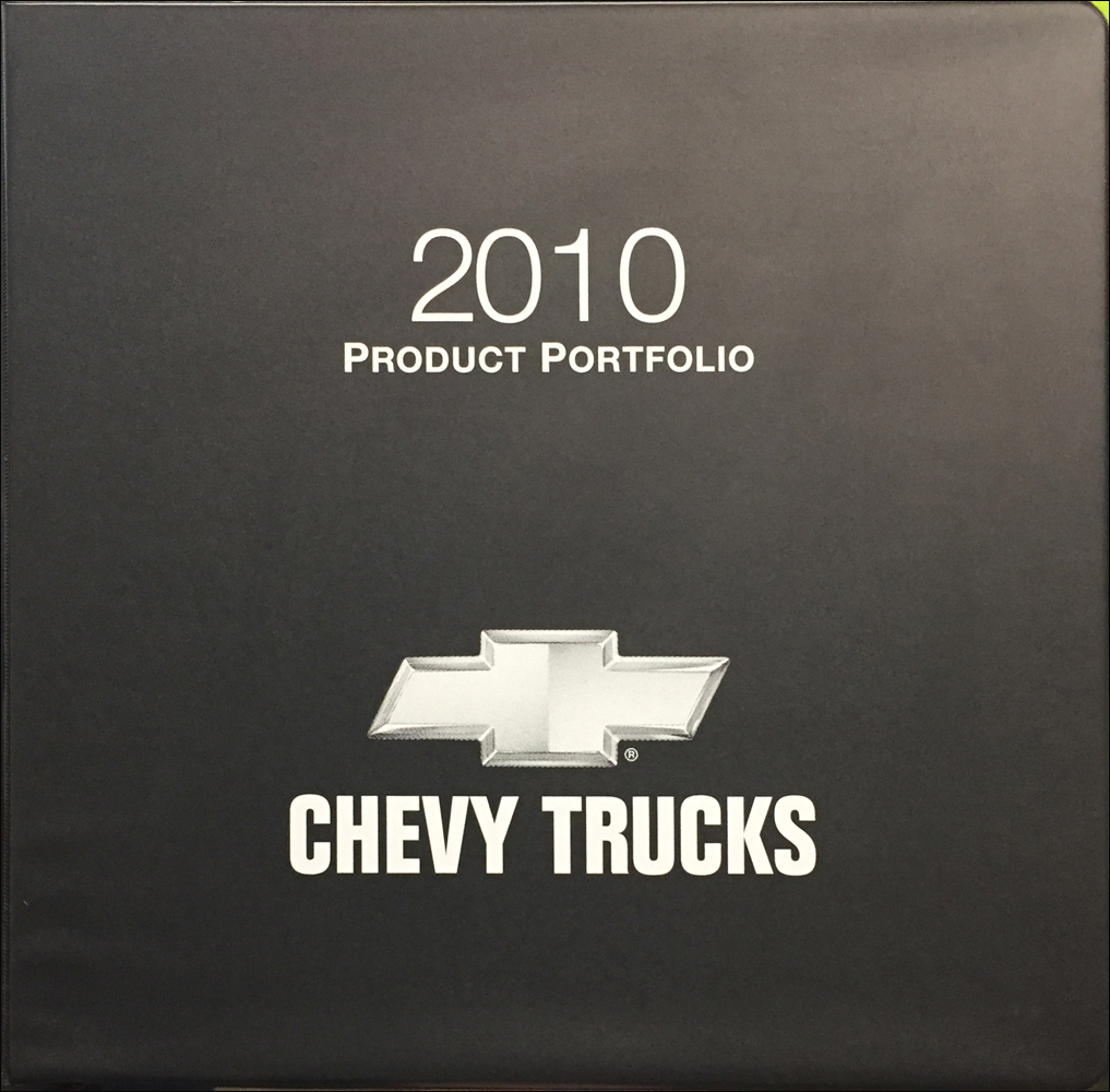 2010 Chevrolet Truck Color and Upholstery Dealer Album/Data Book Original