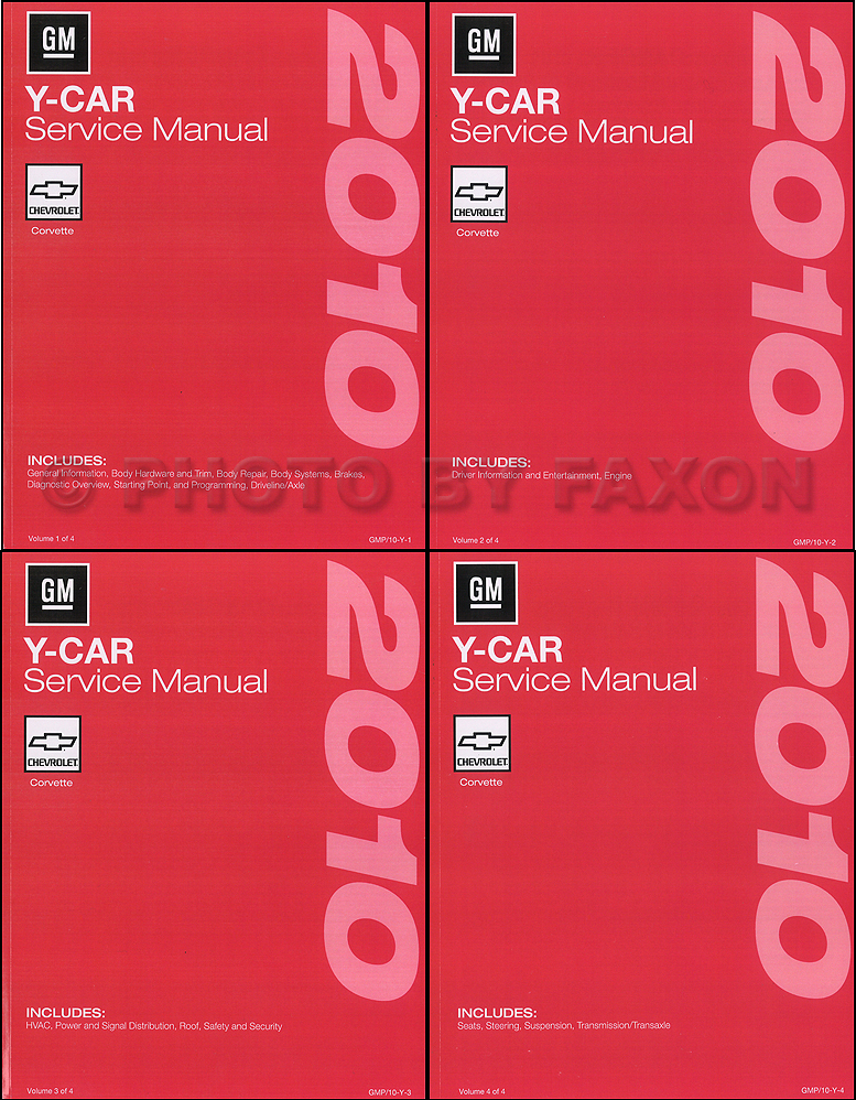 2010 Chevrolet Corvette Repair Shop Manual Original 4 Volume Set