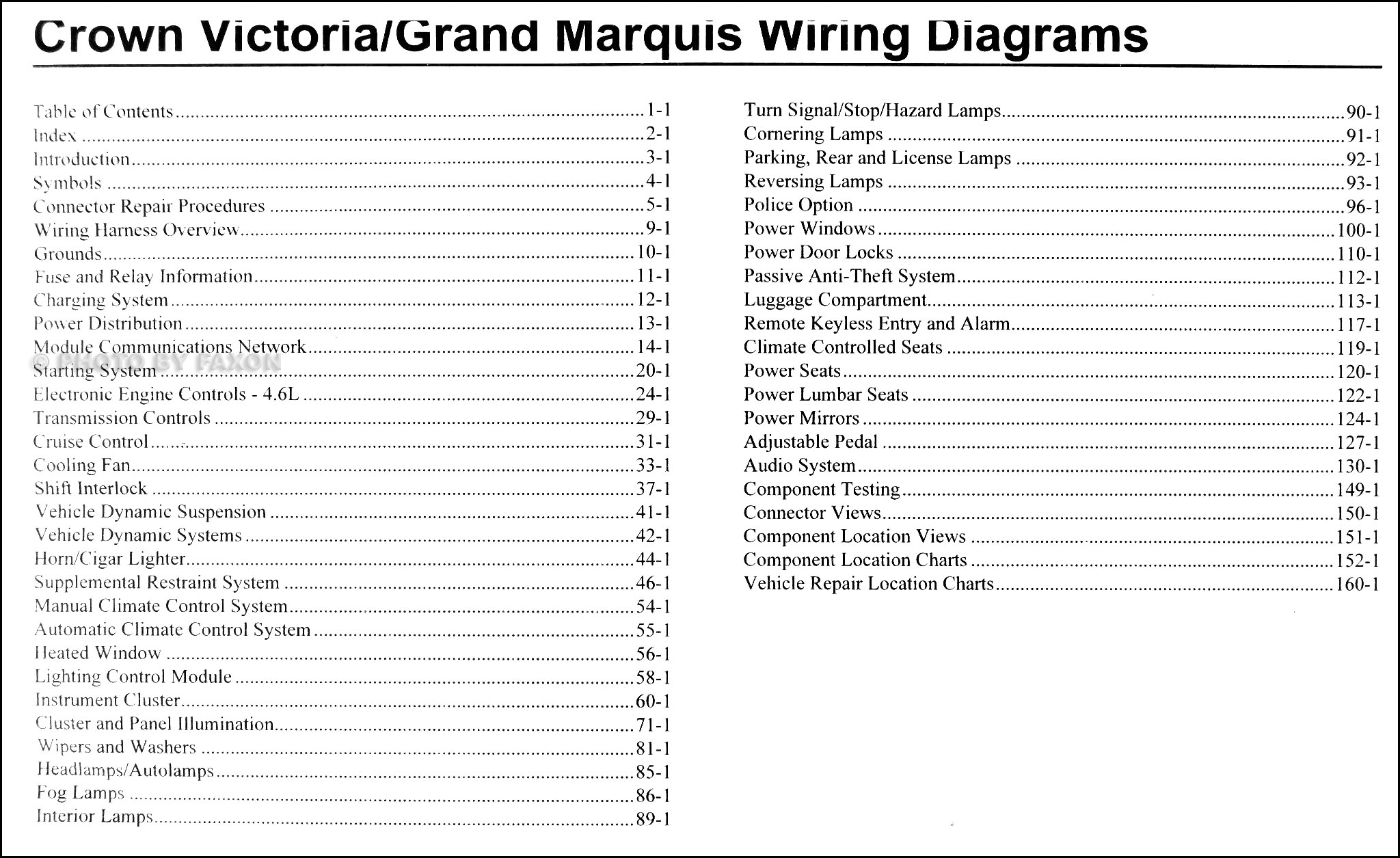 2010 Crown Victoria Wiring Diagram Diagrams Ford Interceptor Grand Marquis Manual Original Rh Faxonautoliterature Com Vic