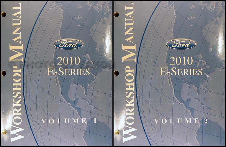 2010 Ford E- Series Repair Manual 2 Volume Set Original